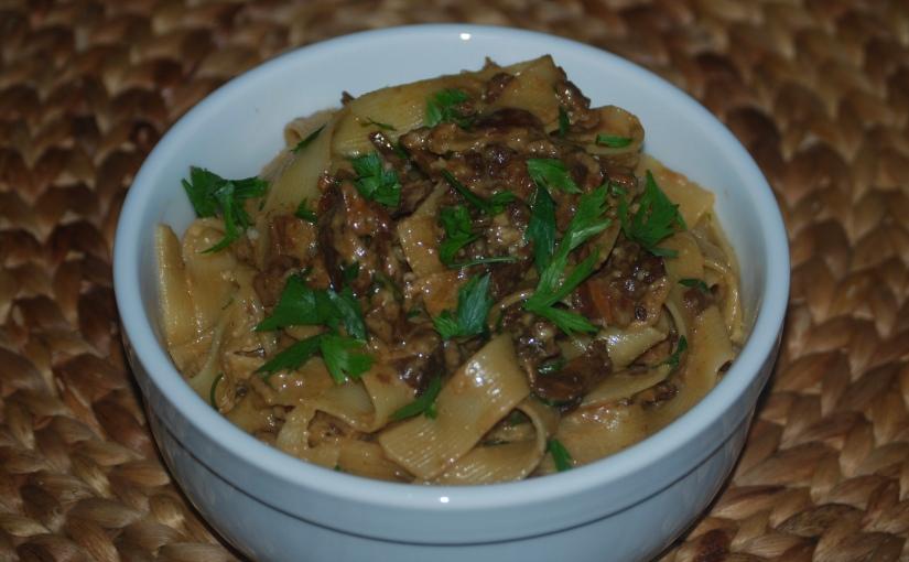 Fettuccini with Mushrooms, Marsala andMascarpone