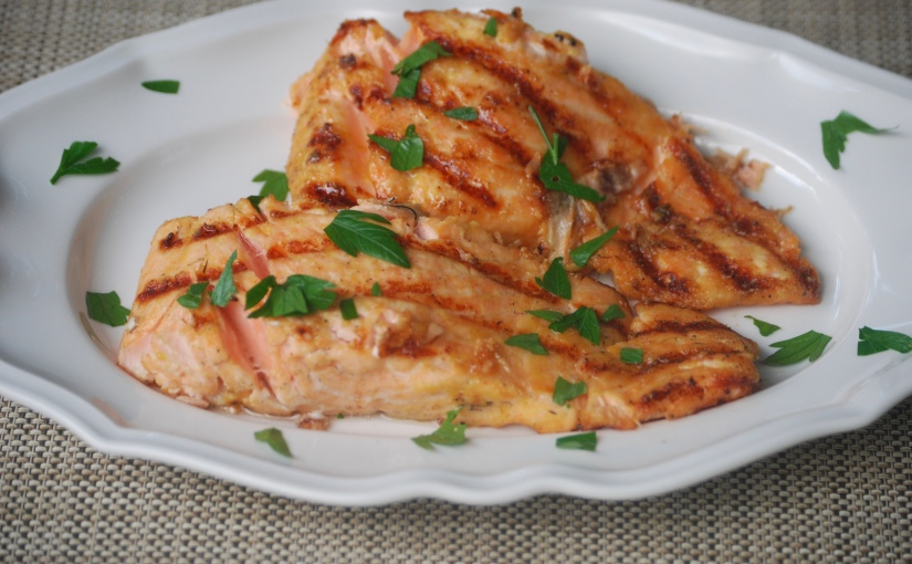 Seared Mustard-Coated Salmon