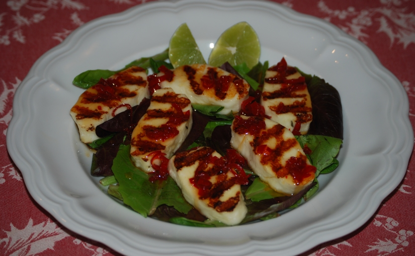 Halloumi with Quick Sweet ChiliSauce