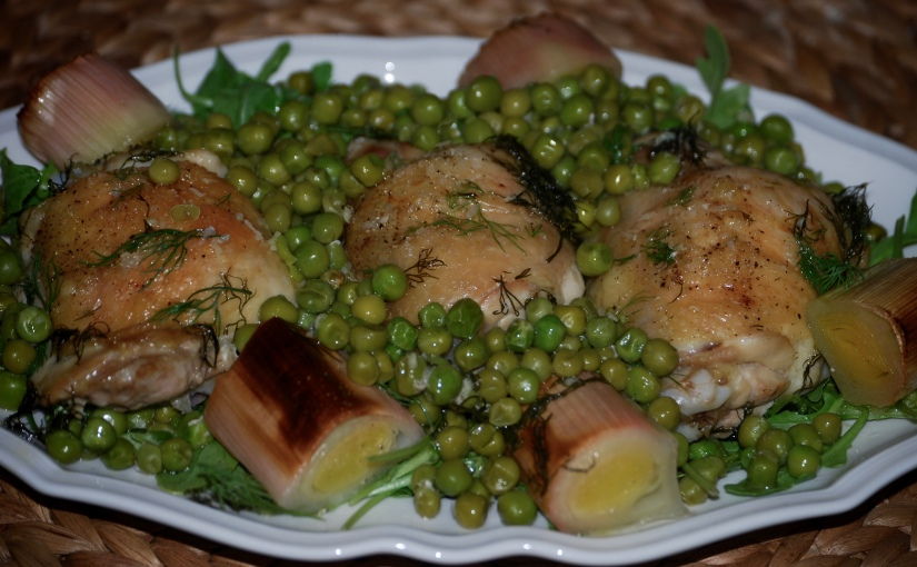 Chicken and Pea Traybake