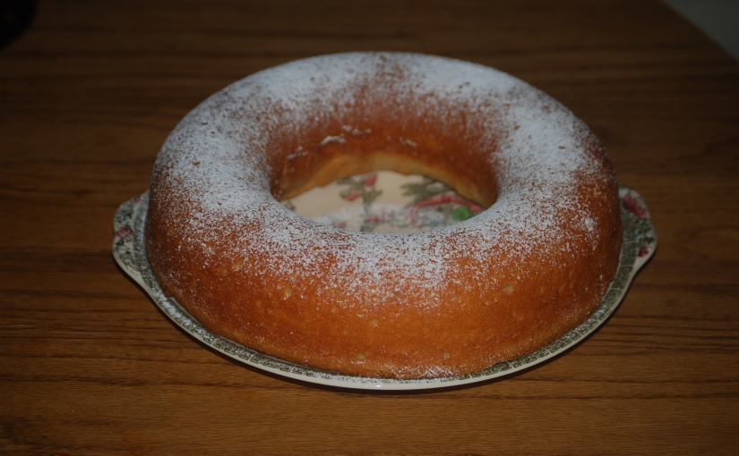 Yogurt Carton Cake