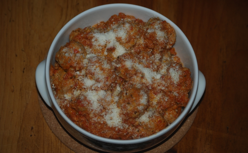 Turkey Meatballs in Tomato Sauce