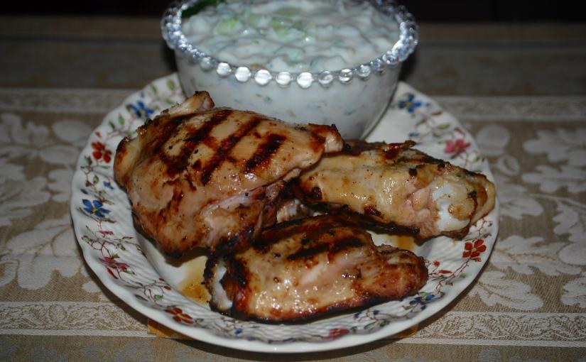 Chicken with Scallions, Chili andYogurt