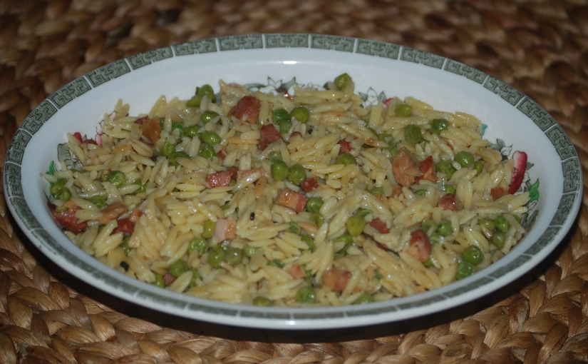 Pasta Risotto with Peas andPancetta