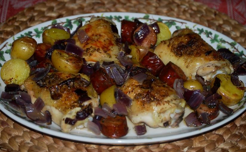 Spanish Chicken with Chorizo andPotatoes