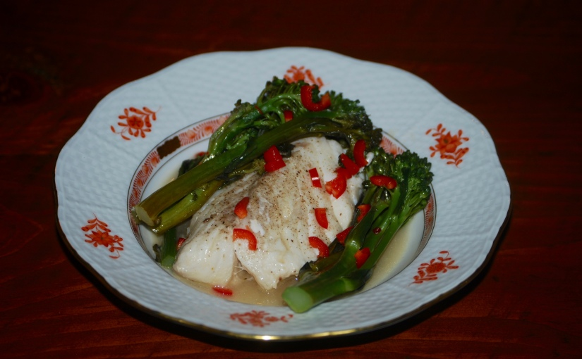 Cod with Broccolini and Chili