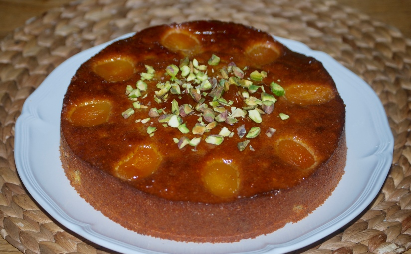 Apricot Cake with Cardamon and Rosewater