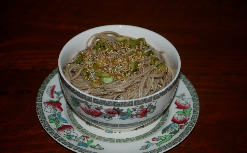 Soba Noodles with Sesame Seeds