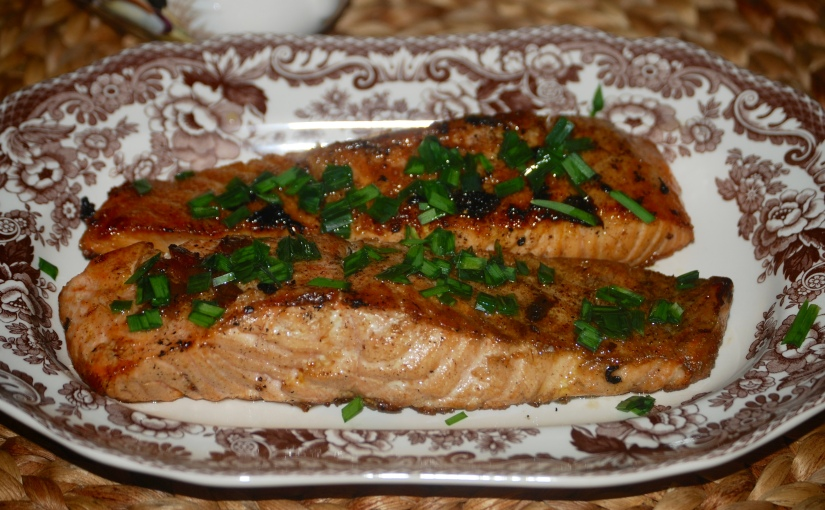 Salmon with Warm BalsamicVinaigrette