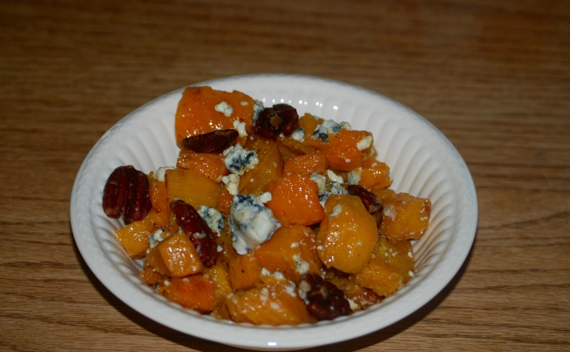 Butternut Squash with Blue Cheese and Pecans