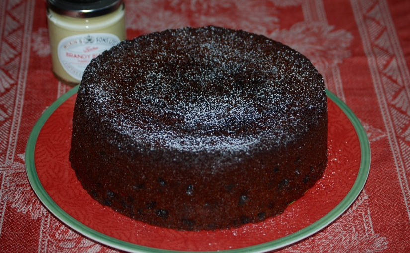 Quick Christmas Cake with Cocoa and Tia Maria