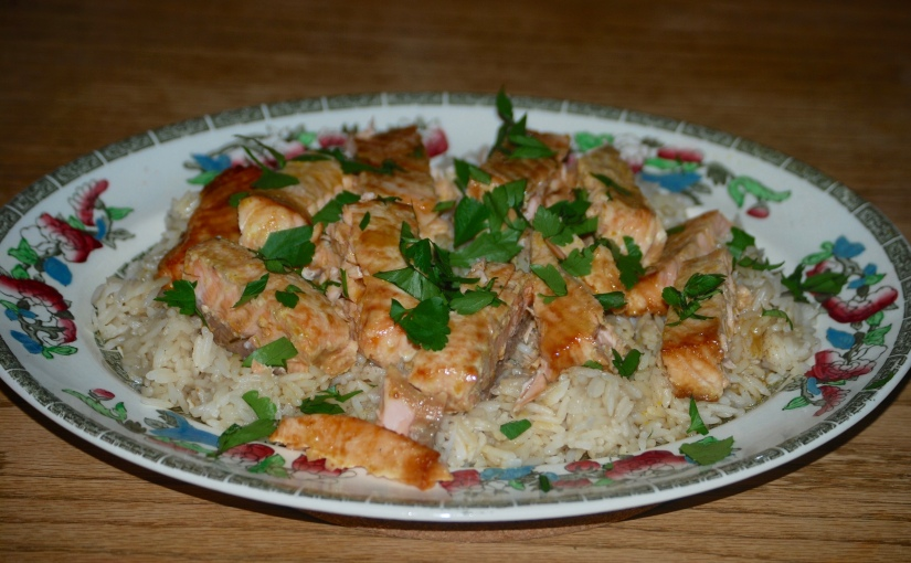 Sake Salmon and Rice