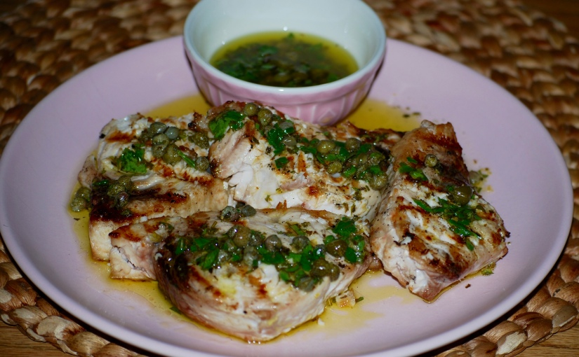 Fish with Three-Herb Salsa