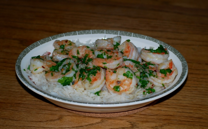 Shrimp with Garlic and Chili Pepper