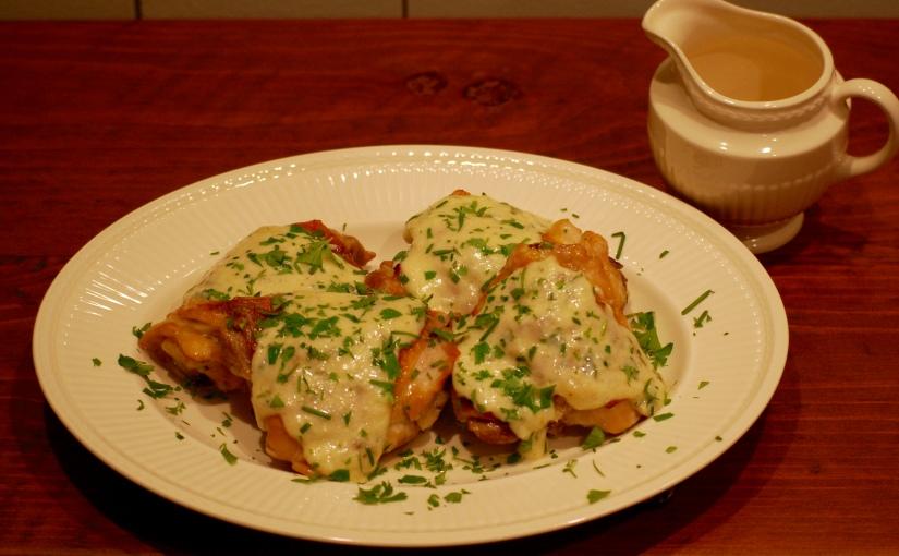 Chicken with Garlic CreamSauce