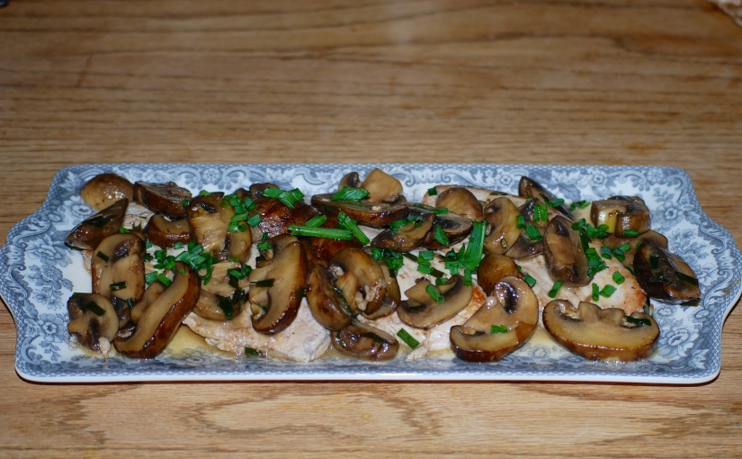 Turkey Escallops with Mushrooms and Chives