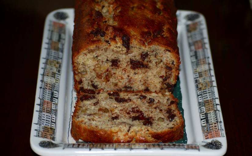 Gluten-Free Banana Bread with Chocolate and Walnuts