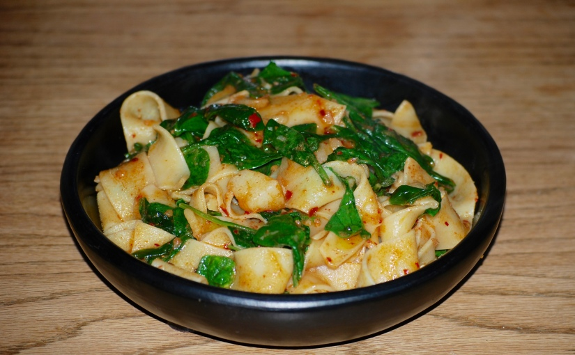 Pappardelle with Cavolo Nero and Nduja