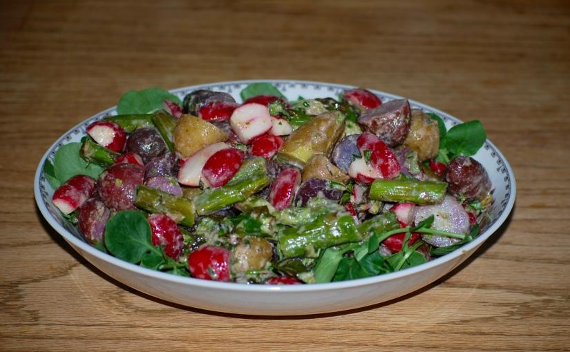 Asparagus, Radish and New PotatoSalad